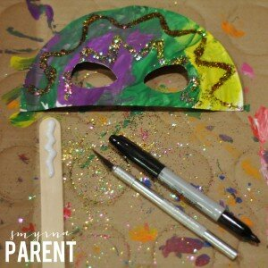 Mardi Gras Mask Stick