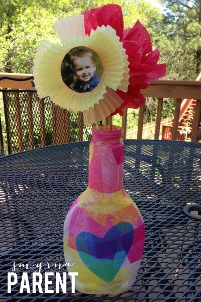 Mothers Day Vase and Flowers
