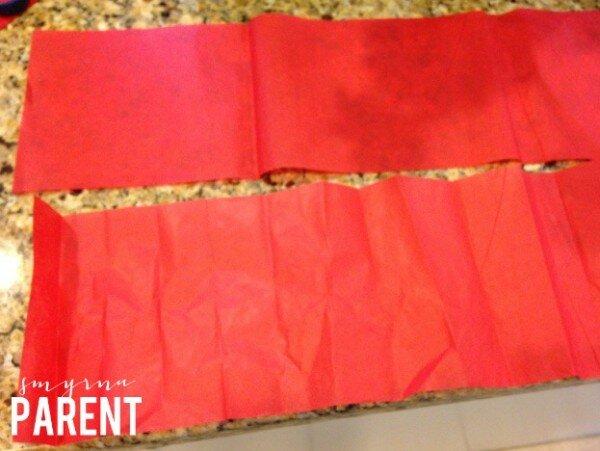 Tissue Paper Flower Step 1